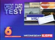 WBRC-TV Channel 6 Credit Card Test promo 1994
