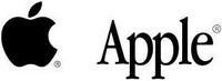 Apple corporate logo black
