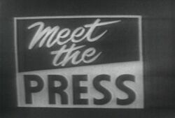 NBC News' Meet The Press Video Open From The Late 1950's