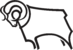 Derby County FC logo (ram only, black outline, faces left)