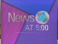 KDFW News 4 Texas 5PM open - 1990