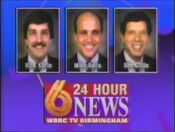 WBRC-TV Channel 6 Sports Team of Rick Karle Mike Raita Ron Grillo promo 1992