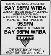 WRBA - Bay 96 - 1991 -March 19, 1993-