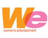 WE- Women's Entertainment logo (Orange and Pink variation)