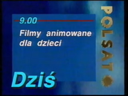 Polsat 1995 TV schedule ident