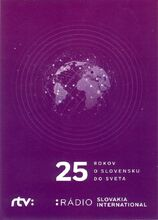 Radio Slovakia International 25th anniversary QSL card