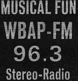 WBAP FM Fort Worth 1956