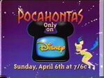 1997 Disney Channel promo for Disney's Pocahontas (1995)