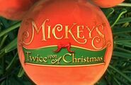 Mickey's Twice Upon a Christmas Title Card