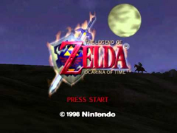The-Legend-of-Zelda-Ocarina-of-Time-Title-Screen