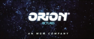 Orion Pictures logo MGM byline