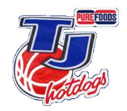 Purefoods TJ Hotdogs logo 1995 1996