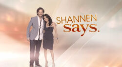 Shannen Says title card