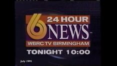 WBRC-TV's Channel 6 News at 10 video promo from July 1995