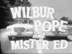 Wilbur Pope and Mister Ed