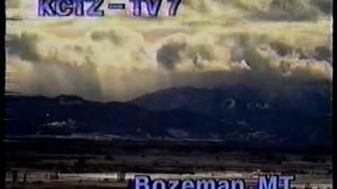 KCTZ TV-7 station id 1991--Downtown Bozeman (Bozeman, MT ABC affiliate)