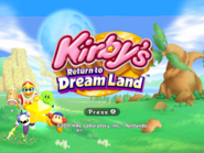 KRTDL Title Screen 4x3 Green Kirby