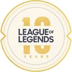 League of Legends 10 Years logo
