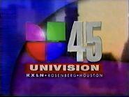 Kxln univision 45 evening opening 1996