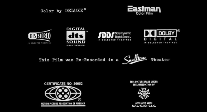 Mpaa Iatse Credits: Out Of Sight Eastman DTS Stereo DTS Digital SDDS