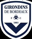 FC Girondins de Bordeaux logo (reversed colours)