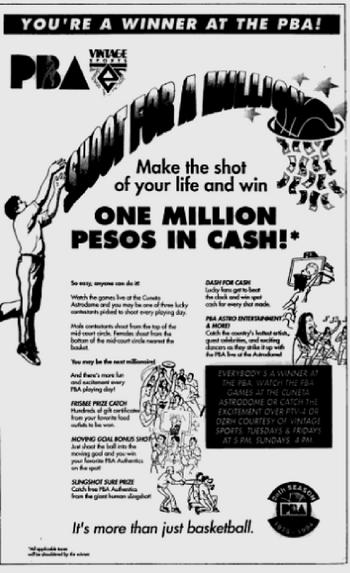 PBA Shoot For A Million ad 1994