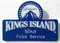 Paramount's kings island mike food service logo