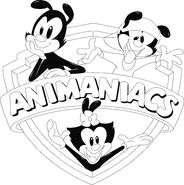 Animaniacs logo monchromatic