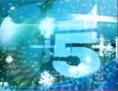 Canale 5 - christmas blue with snowflakes, 2001