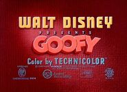 Goofy opening title card