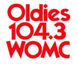 Oldies 104.3 WOMC logo