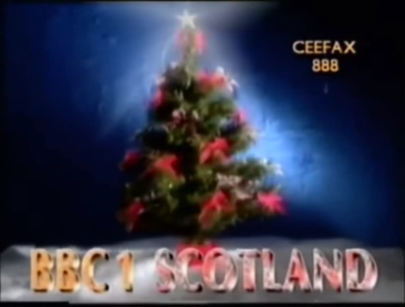 Bbc One Scotland Christmas 1989 Ident Png