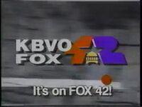 KBVO Its On Fox 42 1993