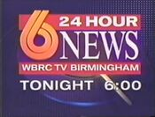 WBRC Channel 6 News at 6pm promo after College Football 1995