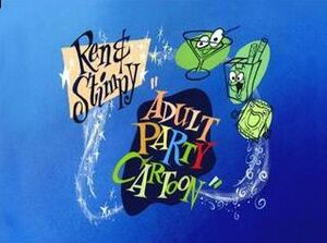Ren & Stimpy Adult Party Cartoon title-card
