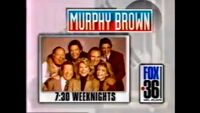 WATL FOX 36 promo for Murphy Brown 730 Weeknights from 1992