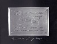 WXEL Dedication Plaque