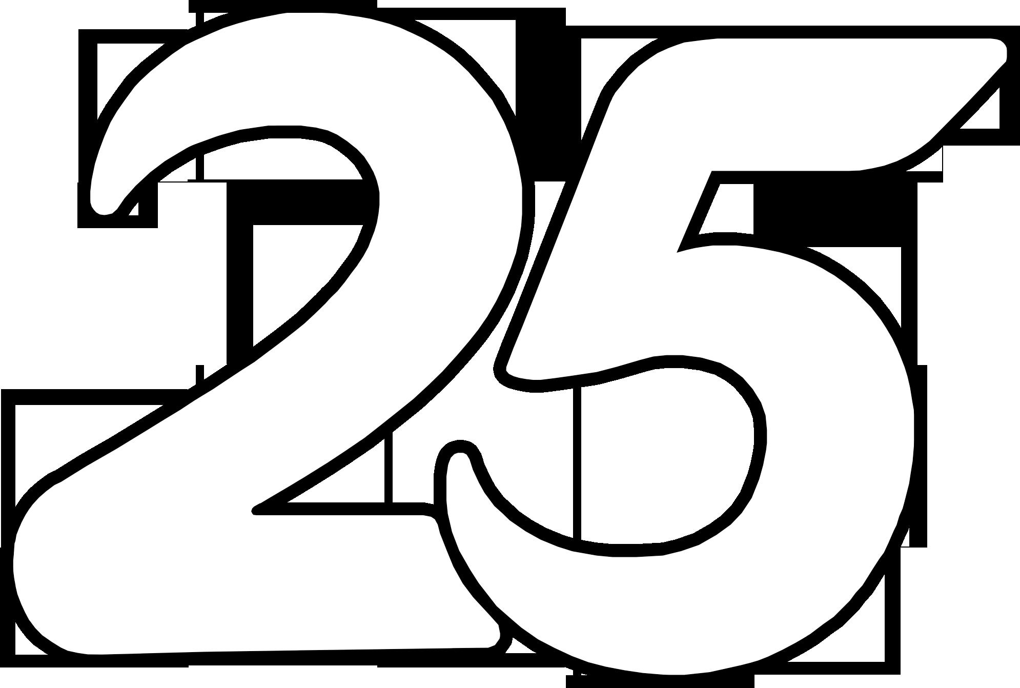 Indosiar 25 Tahun White Number