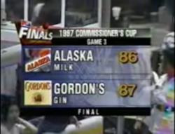 PBA on Vintage Sports scorebug 1997 Com Gov end