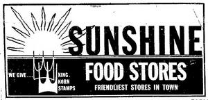 Sunshine Food Stores - 1966 -October 4, 1971-