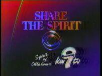 CBS Share The Spirit KWTV 1986 87 ID