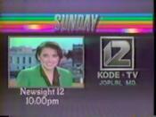 KODE-TV Newssight 12 1987 Promo