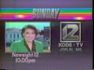 KODE-TV Newssight 12 1987 Promo
