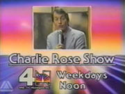 WRC-TV's The Charlie Rose Show Video ID From Late 1980