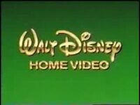 Walt Disney Home Video Green Background