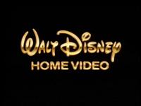 Walt Disney Home Video gold text logo