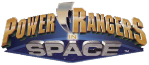 Power Rangers In Space Logo Gold version
