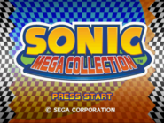 Sonic Mega Collection Prototype Title