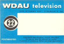 WDAU Mailing Label