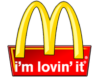 McDonald's 1992 logo with 2003 slogan